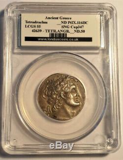 116 BC Ptolemy IX Tetradrachm LCGC 55 SNG Copenhagen 347