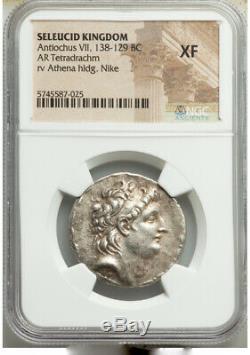 138-129 BC Seleucid Empire Antiochus VII Euergetes Sidetes AR tetradrachm NGC XF