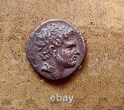 179-168 BC Kingdom of Macedon Silver Tetradrachm Perseus Toned
