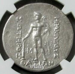 2nd-1st CENTURIES BC SILVER THRACE ISL THASOS DIONYSUS TETRADRACHM NGC CH XF