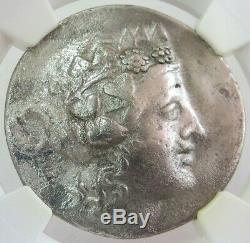 2nd-1st CENTURIES BC SILVER THRACE ISL THASOS DIONYSUS TETRADRACHM NGC VERY FINE