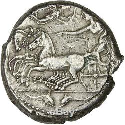 #31104 Coin, Sicily, Syracuse (450-410 BC), Arethusa, nymph, Tetradrachm