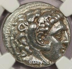 323-317 BC Kingdom of Macedon Philip III AR Tetradrachm obv Heracles Ch XF B-1