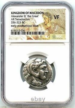 336 BC Ancient Greece, Alexander the Great Silver Tetradrachm, NGC VF, Very Nice