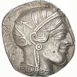 #39085 Attica, Tetradrachm, 490-407 AV JC, Athens, AU(55-58), Silver, SNG