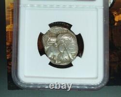 440 404 BC Athena Owl Greek Tetradrachm Attica Athens Ancient Coin NGC XF 4/5