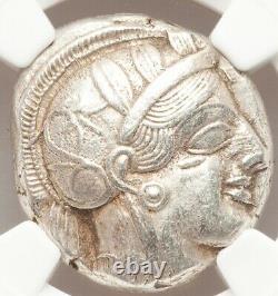 440-404 BC Attica Athens AR tetradrachm Athena & Owl NGC AU 4/5 4/5 LUSTROUS