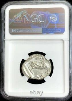440- 404 Bc Silver Attica Athens Tetradrachm Athena Owl Coin Ngc About Unc 4/3