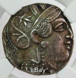 440- 404 Bc Silver Attica Athens Tetradrachm Athena/ Owl Coin Ngc Choice Xf