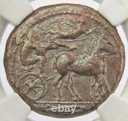 460- 420 Bc Silver Sicily, Messana Tetradrachm Nike Over Biga Coin Ngc Choice Vf