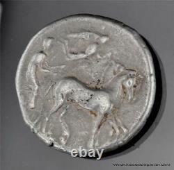 466-405 BC Sicily Syracuse Arethusa Dolphins Nike Silver AR Tetradrachm 6812