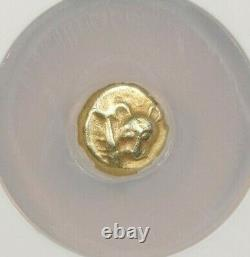550-500 BC Mysia Cyzicus EL Twelfth Stater obv panther NGC Ch VF B-5