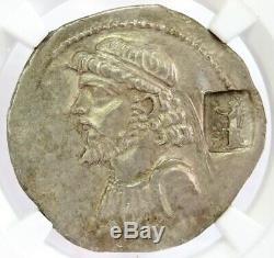 64-53 Bc Kingdom Of Elymais Kamnaskires IV Tetradrachm Ngc Au Star 4/3