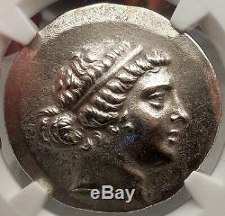 AEOLIS, CYME 155BC Authentic Ancient Greek Coin Certified NGC AU. Amazon & Horse
