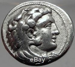 ALEXANDER III the GREAT 330BC Silver Greek Tetradrachm Coin & MEDALLION i61748