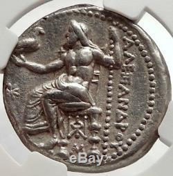 ALEXANDER III the GREAT Ancient 325BC Tetradrachm Greek Coin Zeus NGC AU i66665