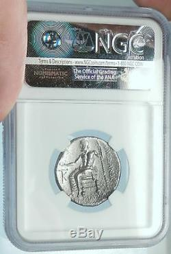 ALEXANDER III the GREAT Silver Tetradrachm Ancient Greek Coin CYPRUS NGC i65992