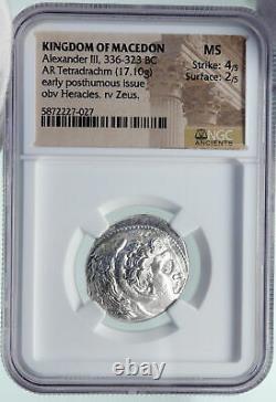 ALEXANDER III the Great Genuine Ancient Silver Greek TETRADRACHM Coin NGC i86402