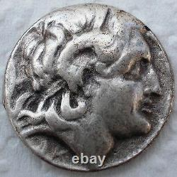 ANCIENT AND MEDIEVAL SILVER GREEK COIN 288 BC Thrace Lysimachus Tetradrachm