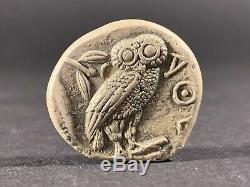 ANCIENT GREEK COIN ATTICA ATHENS OWL SILVER TETRADRACHM CIRCA. 450 BC 25mm 17g
