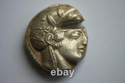 ANCIENT GREEK SILVER ATHENS ATTICA SILVER TETRADRACHM 5/4th CENTURY BC