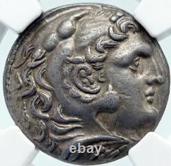 ANTIGONOS II GONATAS Silver Greek TETRADRACHM Coin ALEXANDER III NGC i85488