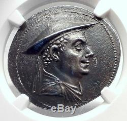 ANTIMACHOS I Greco-Baktrian Baktria Greek Silver Tetradrachm Coin NGC i72394