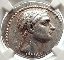 ANTIOCHOS III Megas Ancient Seleukid Silver Tetradrachm Greek Coin NGC i69572