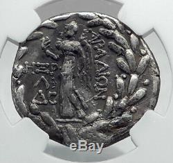 ARADOS PHOENICIA Authentic Ancient 92BC Silver Greek Tetradrachm Coin NGC i80951