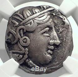 ATHENS Attica Greece 393BC Athenian Silver Tetradrachm Greek Coin OWL NGC i77385