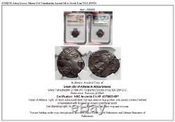 ATHENS Attica Greece Athena Owl Tetradrachm Ancient Silver Greek Coin NGC i59986