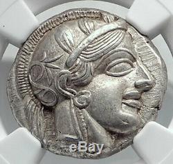 ATHENS Greece 440BC Ancient Silver Greek TETRADRACHM Coin Athena Owl NGC i80689