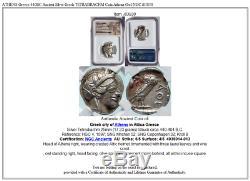 ATHENS Greece 440BC Ancient Silver Greek TETRADRACHM Coin Athena Owl NGC i83830