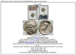 ATHENS Greece 440BC Ancient Silver Greek TETRADRACHM Coin Athena Owl NGC i84880
