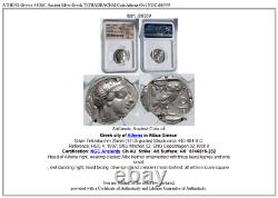 ATHENS Greece 440BC Ancient Silver Greek TETRADRACHM Coin Athena Owl NGC i86559