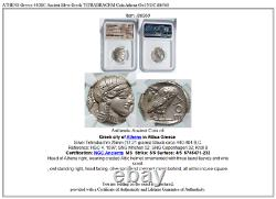 ATHENS Greece 440BC Ancient Silver Greek TETRADRACHM Coin Athena Owl NGC i86560