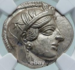 ATHENS Greece 440BC Ancient Silver Greek TETRADRACHM Coin Athena Owl NGC i86620