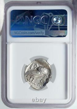 ATHENS Greece 440BC Ancient Silver Greek TETRADRACHM Coin Athena Owl NGC i87714