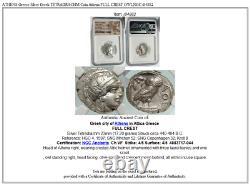 ATHENS Greece Silver Greek TETRADRACHM Coin Athena FULL CREST OWL NGC i84882