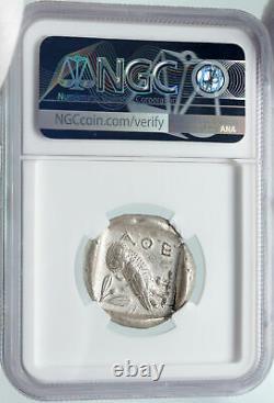 ATHENS Greece Silver Greek TETRADRACHM Coin Athena FULL CREST OWL NGC i85677