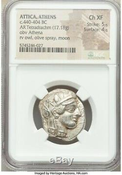 ATTICA, ATHENS OWL NGC Ch XF 5/5 4/5 STUNNING APPEAL 440-404 BC 156