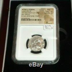 ATTICA ATHENS Silver Coin 440-404 BC AR Tetradrachm Athena Owl NGC AU Strike 5/5