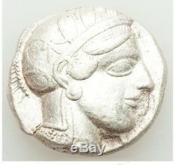 ATTICA Athens 440-404 BC AR tetradrachm obv Athena rev Owl CHOICE XF NO TEST CUT