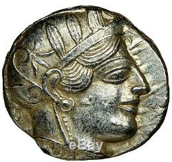 ATTICA Athens 440-404 BC NGC CH AU 4/5 AR Tetradrachm Ancient Silver Coin