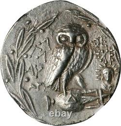 ATTICA. Athens. AR Tetradrachm (16.63 gms), 138/7 B. C. NGC