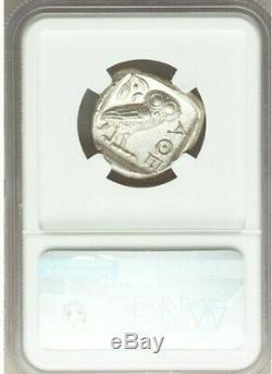 ATTICA Athens Athena Owl 440-404 BC AR (Silver) Tetradrachm NGC MS GRADE 4/5 4/5