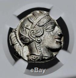 ATTICA Athens Athena Owl 440-404 BC AR Silver Tetradrachm NGC Mint State MS 4+5