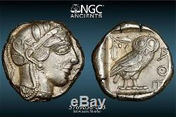 ATTICA. Athens. NGC Ch XF 5/5 4/5 440-404 BC. AR Tetradrachm 25mm, 17.19g 135