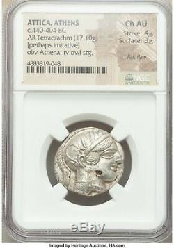 ATTICA. Athens. NGC Choice AU 4/5 3/5 Ca. 440-404 BC. AR TETRADRACHM 061
