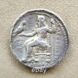 Alexander III the Great Authentic Ancient Greek Silver Tetradrachm Coin with COA